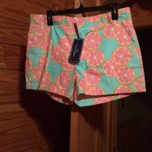 NWT Lauren James grapefruit shorts